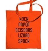 Spock, Paper, Scissors tote bag