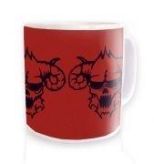 Three Black Demons Heads  mug