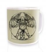 Vitruvian Cthulhu mug
