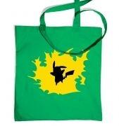 Yellow Pikachu Silhouette tote bag