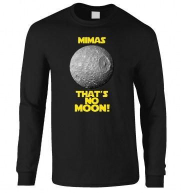 Mimas That's No Moon long-sleeved t-shirt