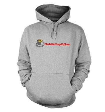 MobileCupOfJoe hoodie - linear logo