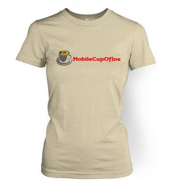 MobileCupOfJoe women's t-shirt - linear logo
