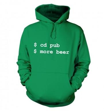 More Beer Linux hoodie