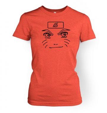 Naruto Face   womens t-shirt