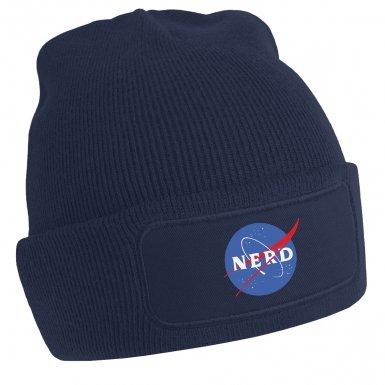NASA NERD Logo beanie hat