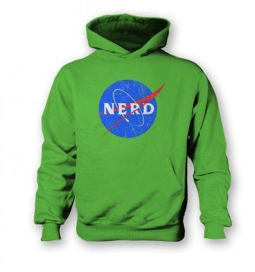Nerd NASA logo kids' hoodie