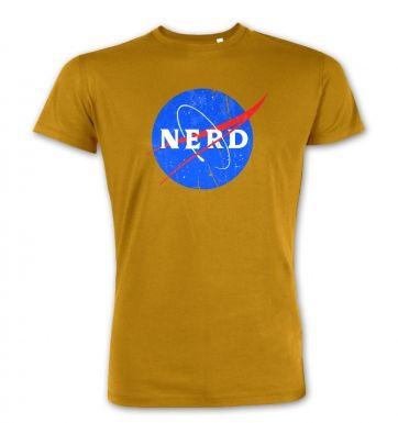 Nerd NASA logo premium t-shirt