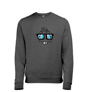 Nerdy Girl Face heather sweatshirt