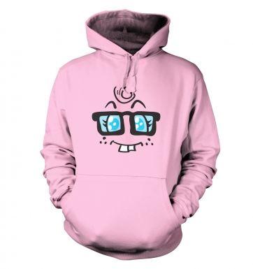 Nerdy Girl Face hoodie
