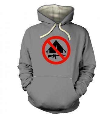 No Camping  hoodie (premium)