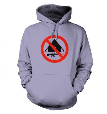No Camping hoodie
