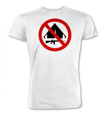 No Camping  premium t-shirt