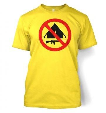 No Camping  t-shirt