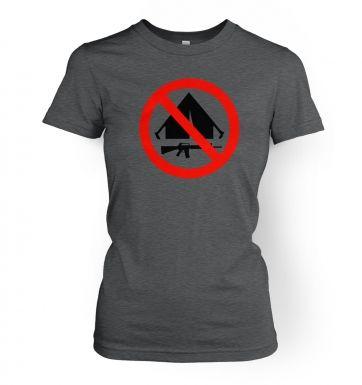 No Camping  womens t-shirt