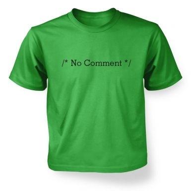 /* No Comment */ kids t-shirt