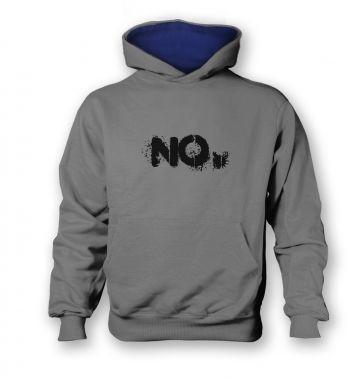 NO   kids hoodie (contrast)