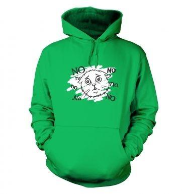 No no no cat hoodie