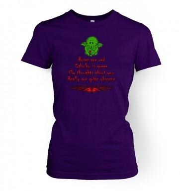 Obscene Cthulhu valentine women's t-shirt