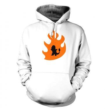 Orange Charmander Silhouette  hoodie