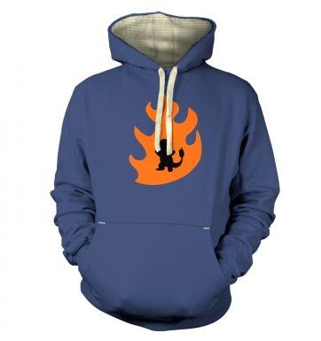 Orange Charmander Silhouette hoodie (premium)