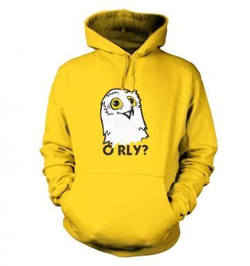 O RLY? Owl hoodie