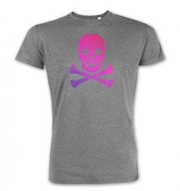 Pink Pixellated Skull premium t-shirt