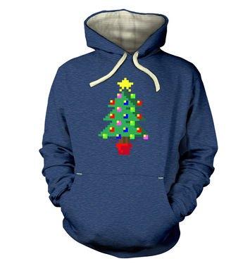 Pixellated Christmas Tree hoodie (premium)