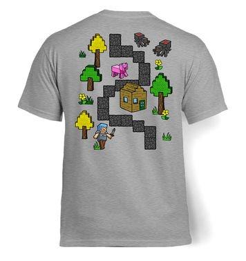 Pixel World Play Mat (Backprint) t-shirt