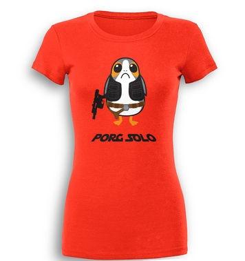 Porg Solo premium womens t-shirt