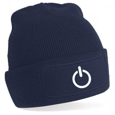 Power Symbol beanie hat (white detail)