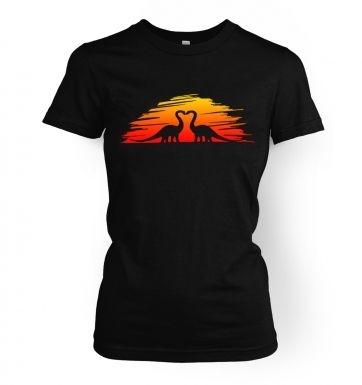 Prehistoric Love   womens t-shirt