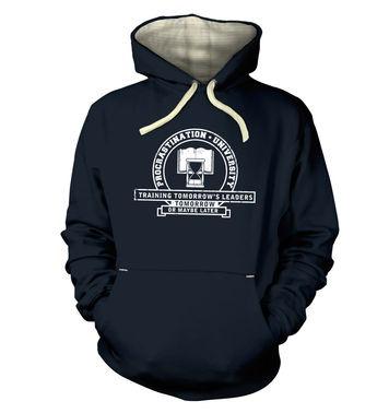 Procrastination University hoodie (premium)