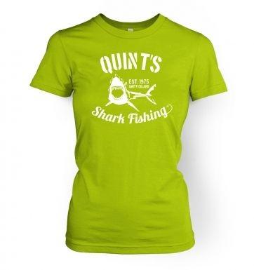 Quints Shark Fishing women's t-shirt