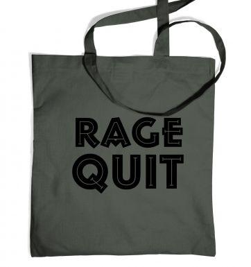 Rage Quit tote bag