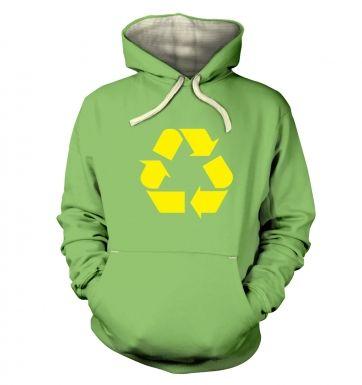 Yellow Recycling Symbol  hoodie (premium)