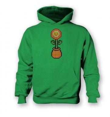 Red 8-Bit Flower kids' hoodie