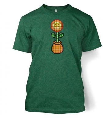 Red 8-Bit Flower t-shirt