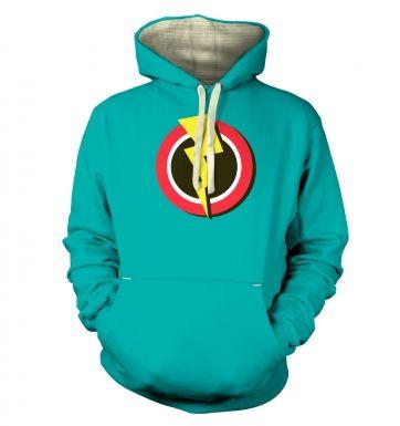 Red and Yellow Flash Symbol  hoodie (premium)