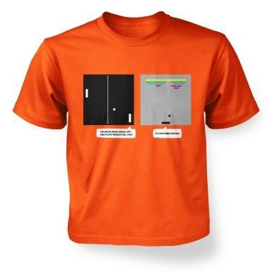 Wonder Of Dimenions kids' retro gaming t-shirt