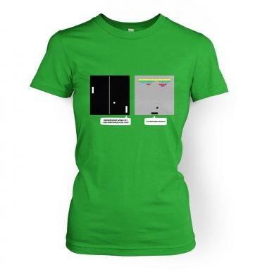 Wonder Of Dimenions women's retro gaming t-shirt