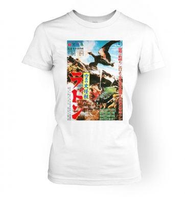 Rodan Flying Monster   womens t-shirt
