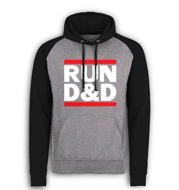 RUN D&D baseball hoodie