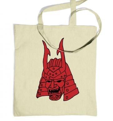 Samurai Helmet Japanese tote bag