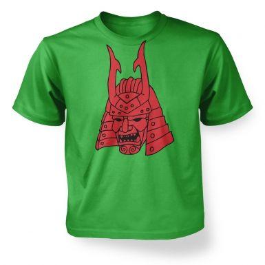 Samurai Helmet Japanese  kids t-shirt