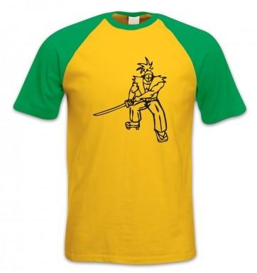 Samurai Ronin Japanese short-sleeved baseball t-shirt