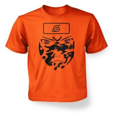 Sasuke Face   kids t-shirt