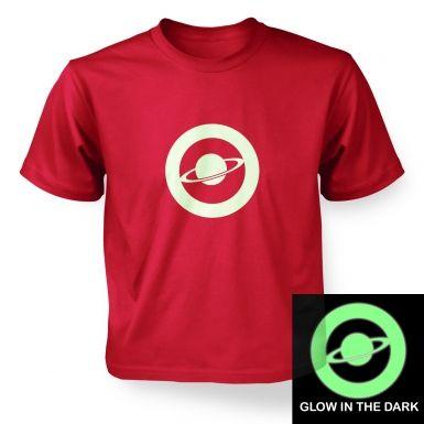 Saturn Circle Glow In The Dark kids' t-shirt