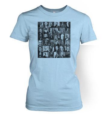 Scientist Collage Graphic women's t-shirt