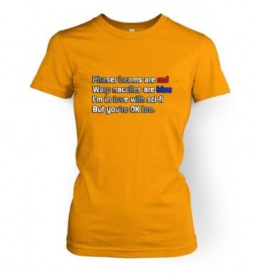 Sci-Fi Valentine women's t-shirt